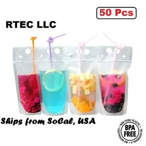 50 Piece Drink Pouch Zipper Bag For Drinks Snacks